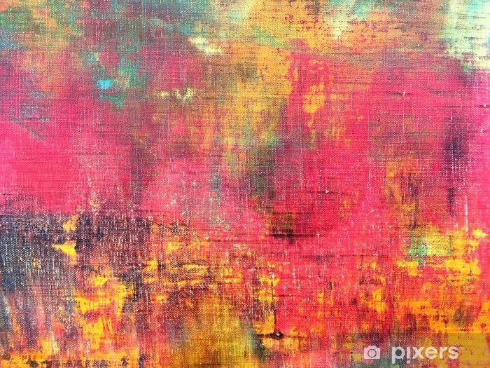 Abstract Colorful Hand Painted Canvas Texture Background Wall Mural Vinyl
