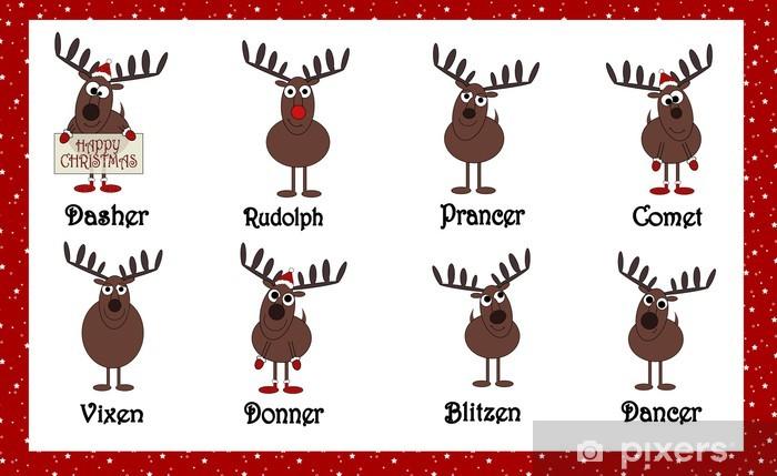 Nomi Renne Babbo Natale.Carta Da Parati Renne Cartoon Babbo Natale Con I Nomi Pixers