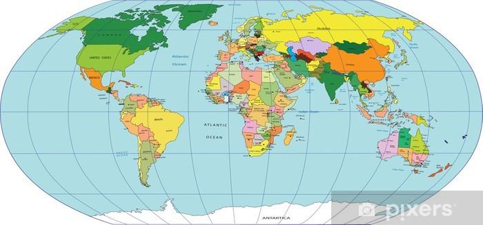 Maailman Kartta Tapetti Pixers Elamme Muutoksille