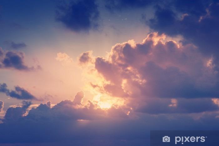 Zelfklevend Fotobehang Zonnige hemel achtergrond in vintage retro-stijl - Landschappen