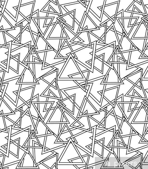 Naklejka na drzwi Wzór wektorowy. nowoczesne stylowe tekstury. powtarzanie geometrycznych kafelków z pasiastych trójkątów - Zasoby graficzne