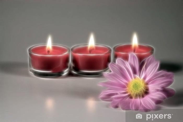 Kolme kynttilää Pixerstick tarra -