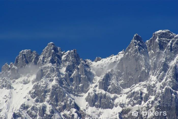 Papier peint vinyle Les alpes en hiver - neige panorama - Vacances