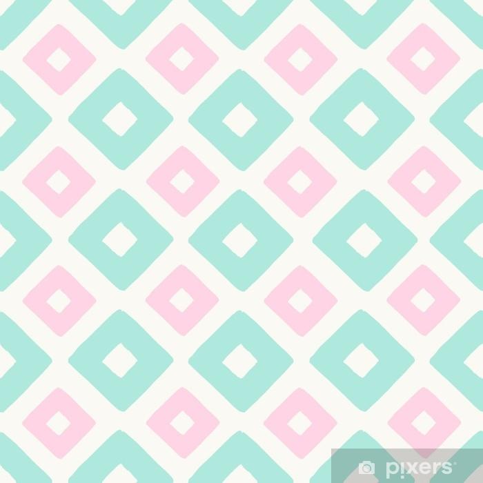Geometrisk sømløst mønster Pixerstick klistermærke - Grafiske Ressourcer