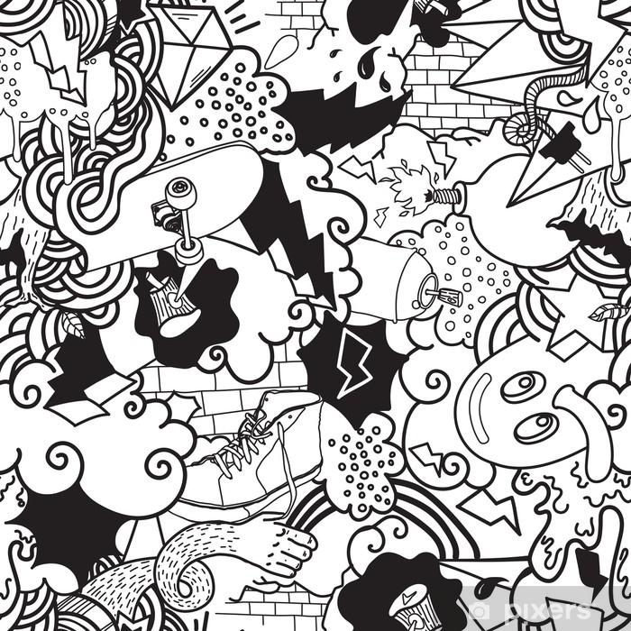 Naklejka Pixerstick Kolorowe graffiti bezszwowe wzór - Hobby i rozrywka