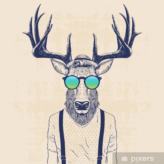 Plakat Chłodny jelenia - Zwierzęta
