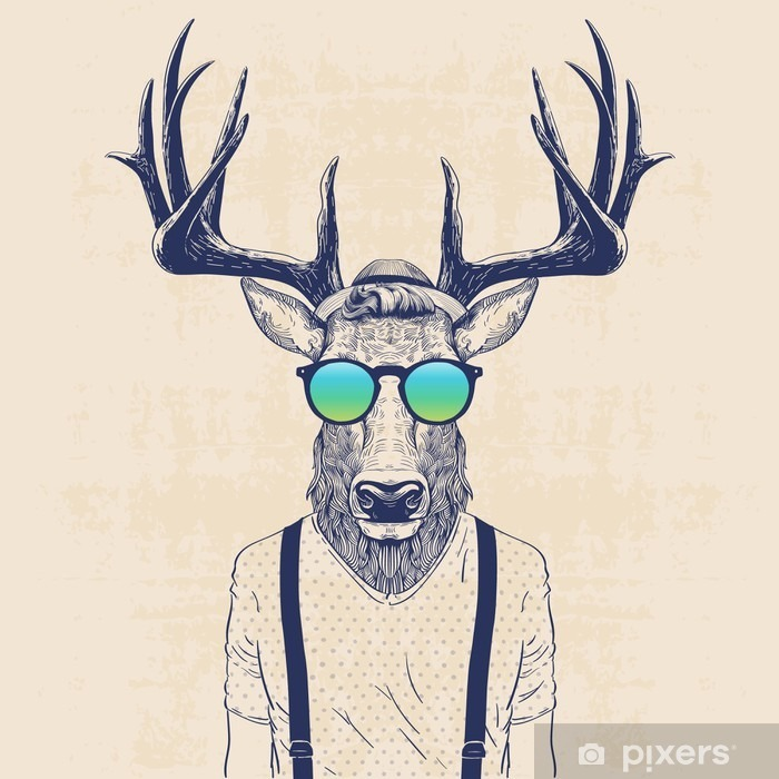 cool deer Poster - Animals