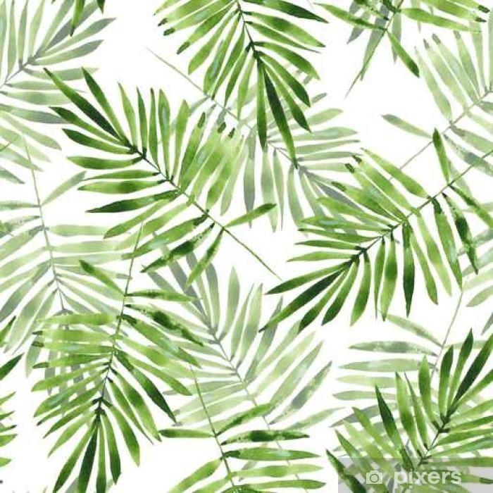 Blickdichter Fenstervorhang Palmenblätter. Aquarell nahtlose Muster 2 - Grafische Elemente