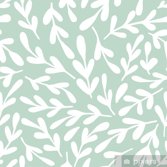 Seamless leaf pattern Framed Poster - Relaxation
