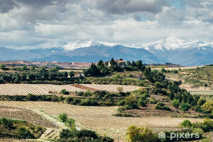 Naklejka Pixerstick Wioska Elciego, Hiszpania - Europa