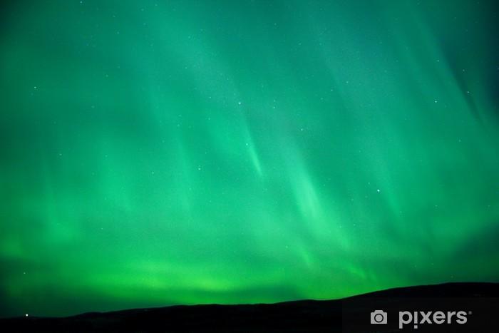 green sky glow - aurora borealis Vinyl Wall Mural - Wonders of Nature