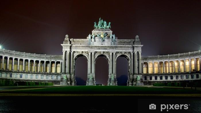 Naklejka Pixerstick Triumfalny w parku architekturach pięćdziesiątą rocznicę, Bruksela, Belgia - Pejzaż miejski