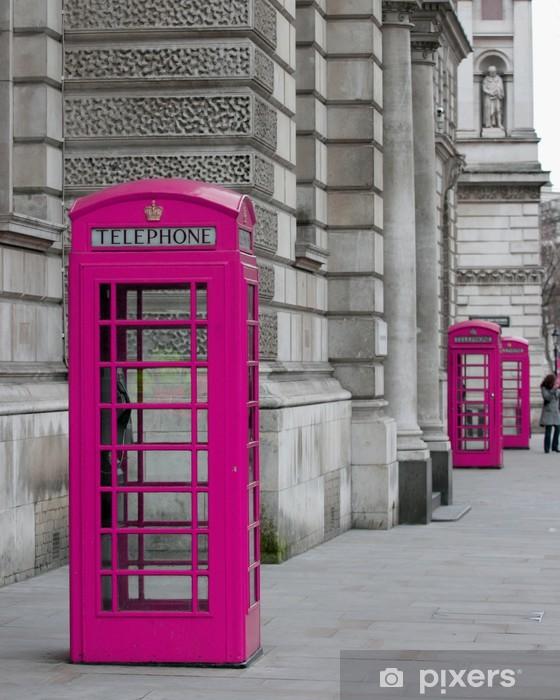 cabines téléphoniques à Londres Vinyl Wall Mural - Themes