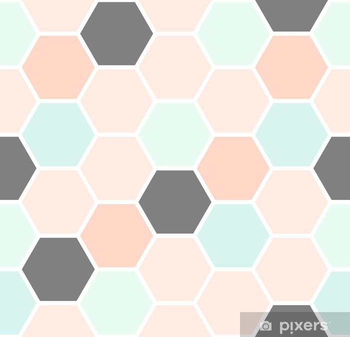 Sticker pour ordinateur portable Modèle sans couture d'hexagone - Ressources graphiques