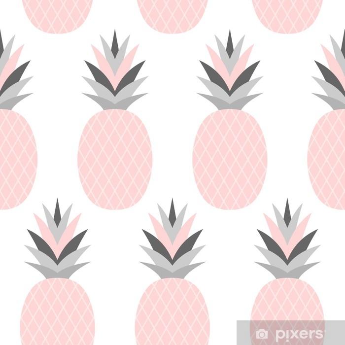 Vinyl Fotobehang Roze ananassenpatroon - Eten