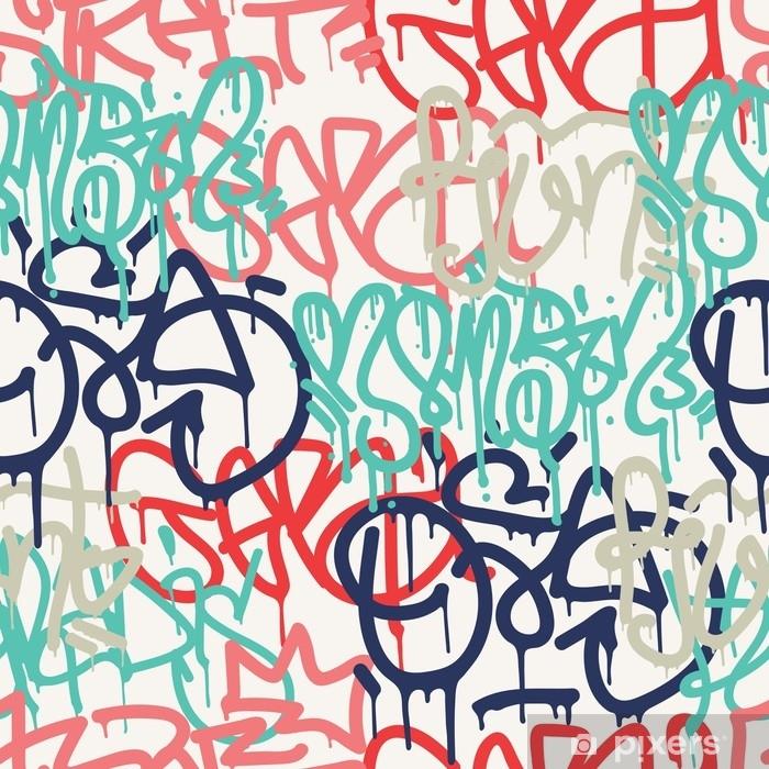 Naklejka na szafę Graffiti bezszwowe tło wzór - Zasoby graficzne