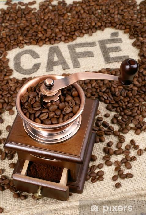 Naklejka Pixerstick Mielenie kawy - Posiłki