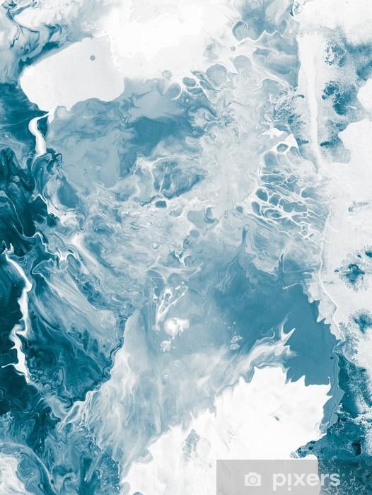 Vinyl-Fototapete Blau Marmor Textur -