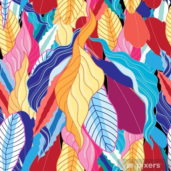 Plakat Wzór z liści. - Rośliny i kwiaty
