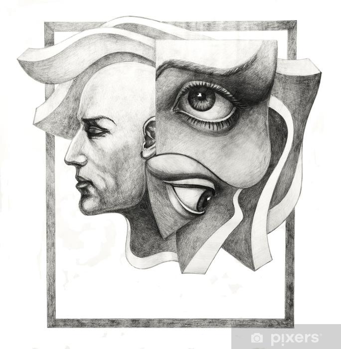 Pixerstick Sticker Surrealistisch oog - Hobby's en Vrije tijd