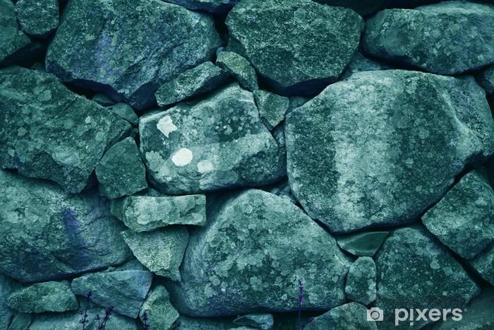 Fototapeta winylowa Piękne niebieskie ułożone duże skały / kamienie (tapeta mineralny, tło) - Zasoby graficzne