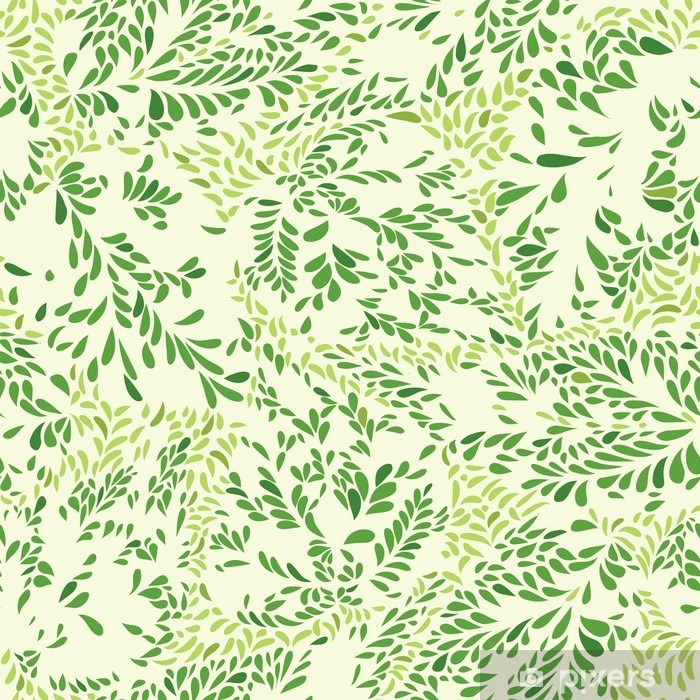 Floral pattern Leaves textured tiled background Ornamental floururish abstraction Pixerstick Sticker - Graphic Resources