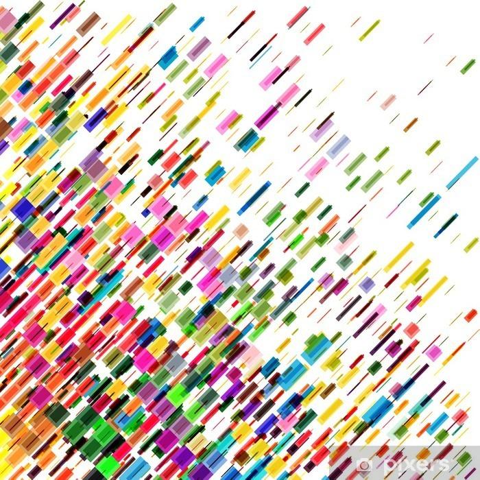 Vinilo Pixerstick Líneas de colores en movimiento abstracto, fondo del vector - Recursos gráficos