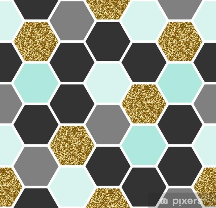 Fototapet av Vinyl Hexagon sömlösa mönster -