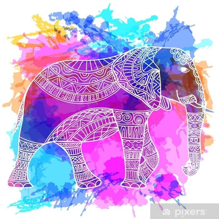 Tervehdys Kaunis Kortti Elefantti Vektoriin Tehty Elaimen Runko