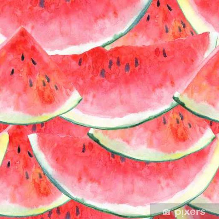 Fototapeta samoprzylepna Jednolite wzór z watermelon.Fruit picture.Watercolor Ręcznie rysowane ilustracji. - Jedzenie