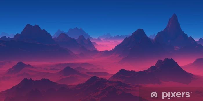 Naklejka na lodówkę Góry o zachodzie słońca - Krajobrazy