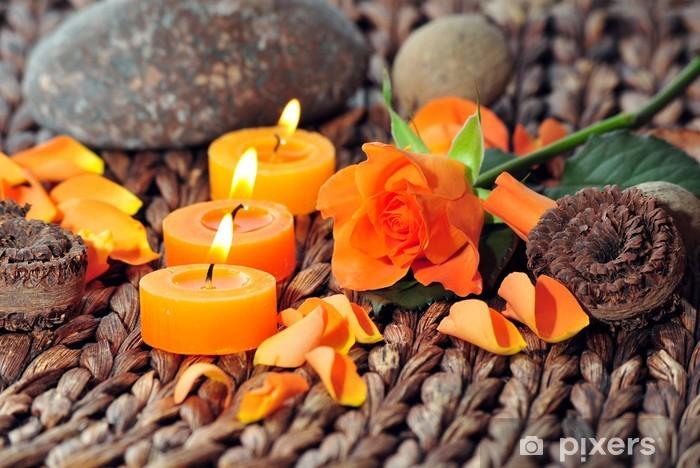 Pixerstick Sticker Wellness Kerzen Dekoration - Schoonheid en Lichaamsverzorging
