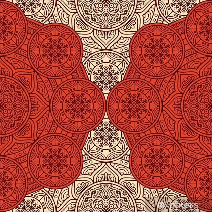 Naklejka Pixerstick Etnicznej kwiatowy szwu - Zasoby graficzne
