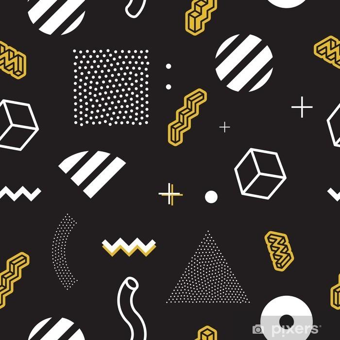 Seamless vector pattern Pixerstick Sticker - Graphic Resources