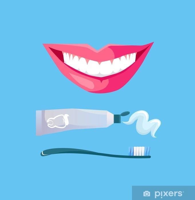 Carta da Parati in Vinile Sorriso con Dente bianco - Stili di vita