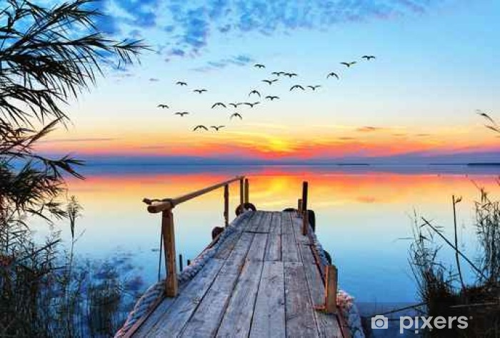 Paisaje Natural De Un Lago Wall Mural Pixers 174 We Live