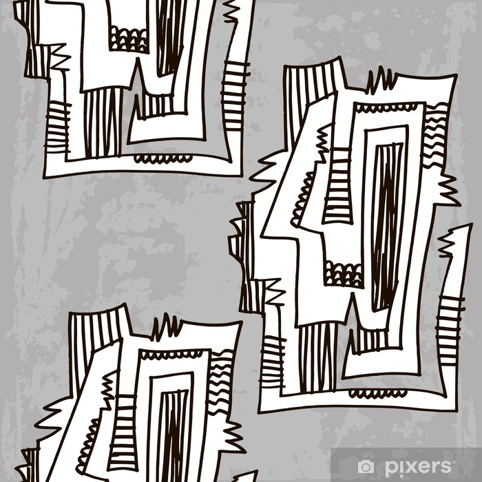 The Picasso-style pattern vector Self-Adhesive Wall Mural - People