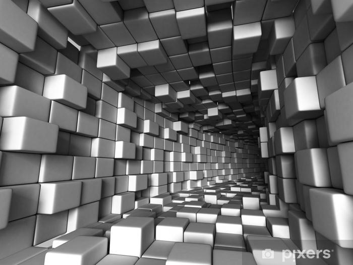 Zelfklevend Fotobehang Abstracte architectuurtunnel met lichte achtergrond - Grafische Bronnen