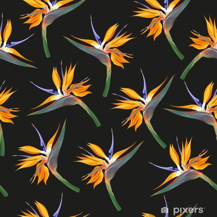 Fototapeta samoprzylepna Kwiaty dżungli bez szwu - Zasoby graficzne
