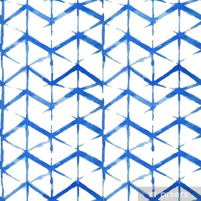 shibori indigo seamless pattern Pixerstick Sticker - Graphic Resources