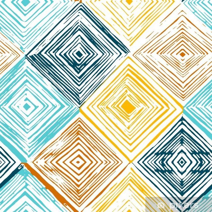 Adesivo Pixerstick Mano rombo disegnato seamless - Risorse Grafiche