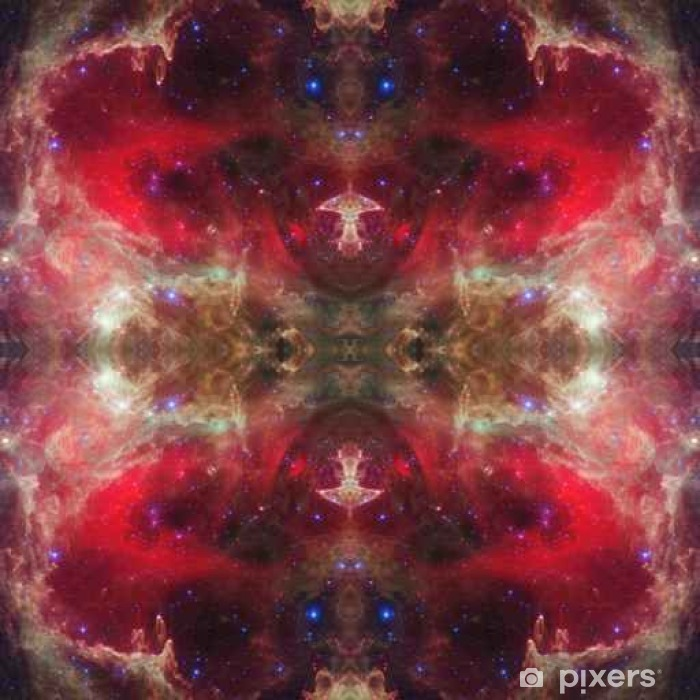 Fototapet av vinyl Universets symmetriske bakgrunn. Elementer av dette bildet møblert - Grafiske Ressurser