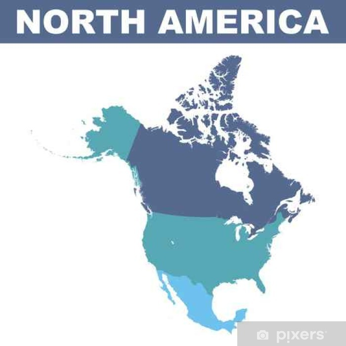 North America vector map Poster