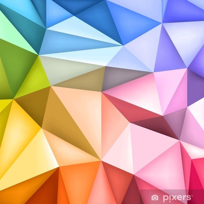 Alfombrilla de baño Fondo de formas de polígono bajo, mosaico de triángulos, fondo creativo, diseño de plantillas, papel pintado multicolor, diseño vectorial - Recursos gráficos