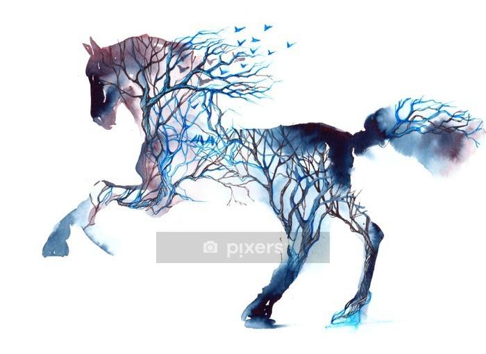 Nálepka na stěny Kůň - iStaging