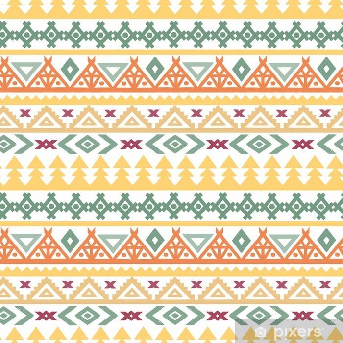 Fotomural Autoadhesivo El arte tribal boho étnico patrón transparente - Recursos gráficos