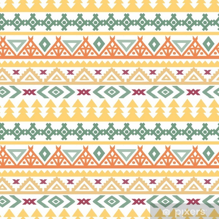 Tribal art ethnic boho seamless pattern Self-Adhesive Wall Mural - Graphic Resources