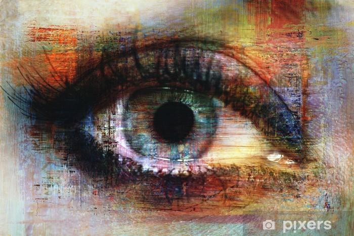 Afwasbaar Fotobehang Eye textuur -