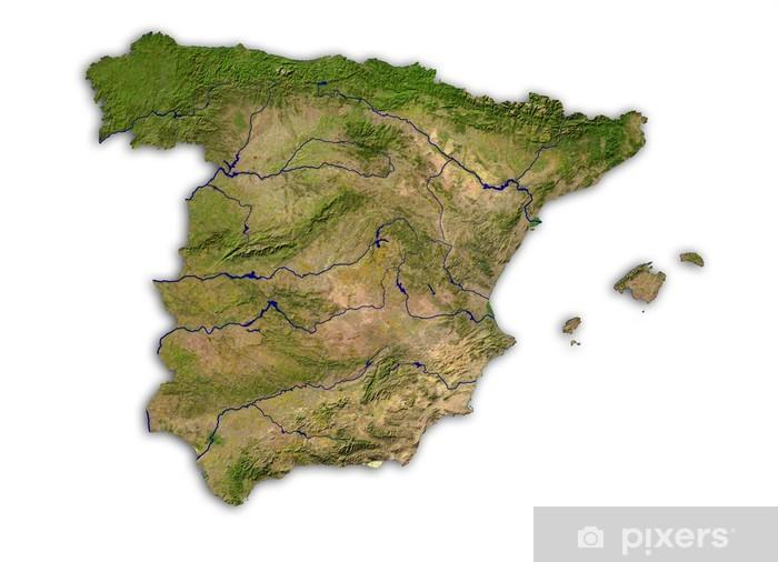 Nálepka Pixerstick Španělsko frei - Evropská města
