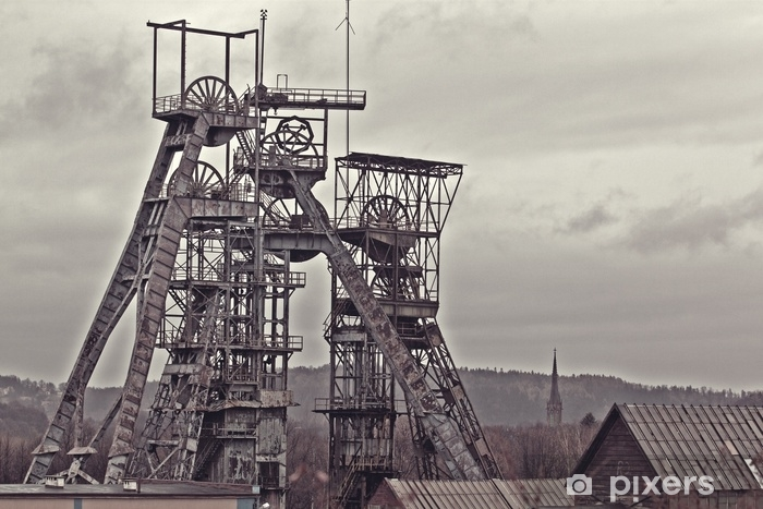 Old coal mine Vinyl Wall Mural - Industry